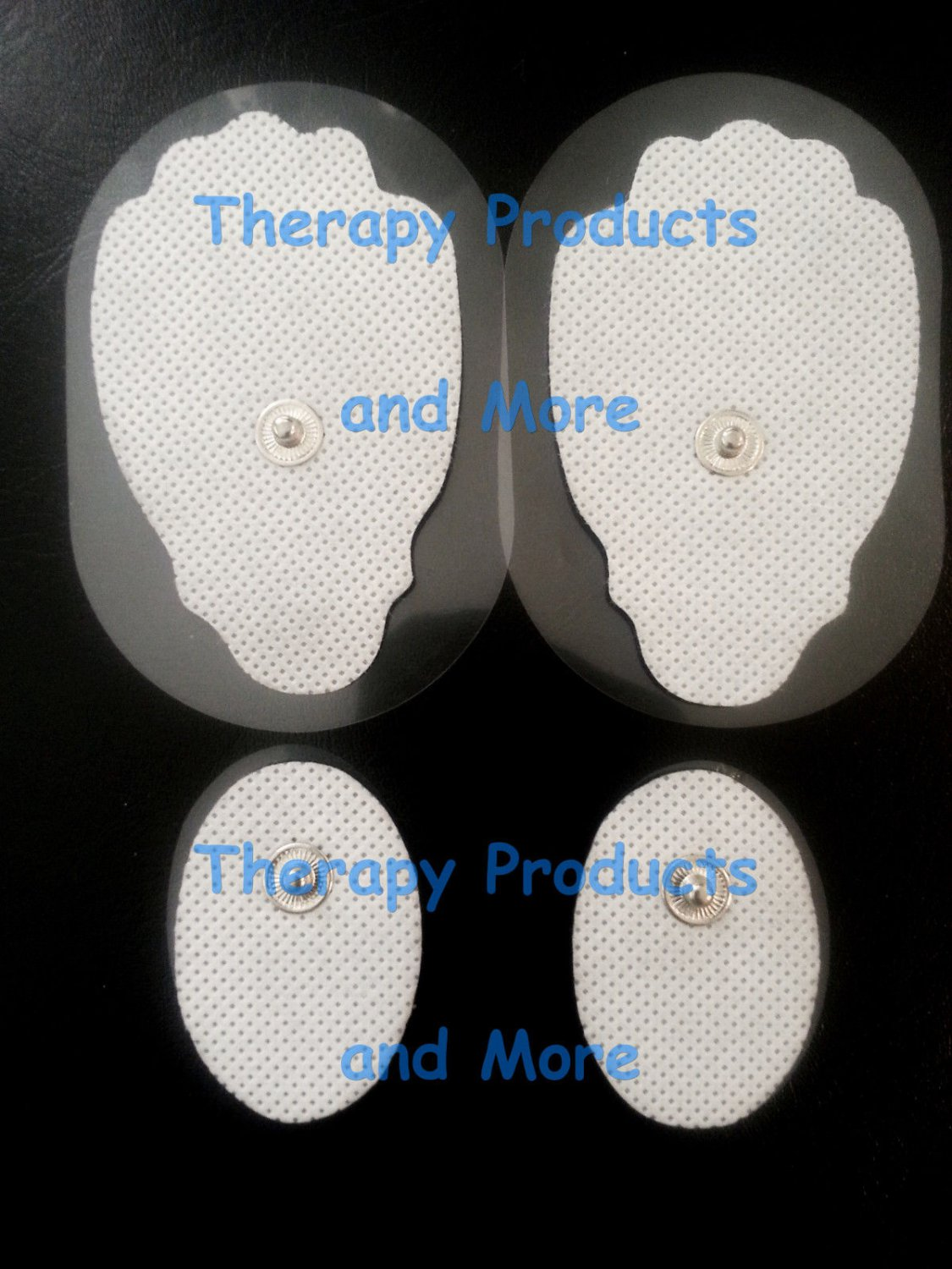 REPLACEMENT ELECTRODE PADS COMBO (2 LG, 2 SM OVAL) FOR ALL IQ DIGITAL MASSAGERS