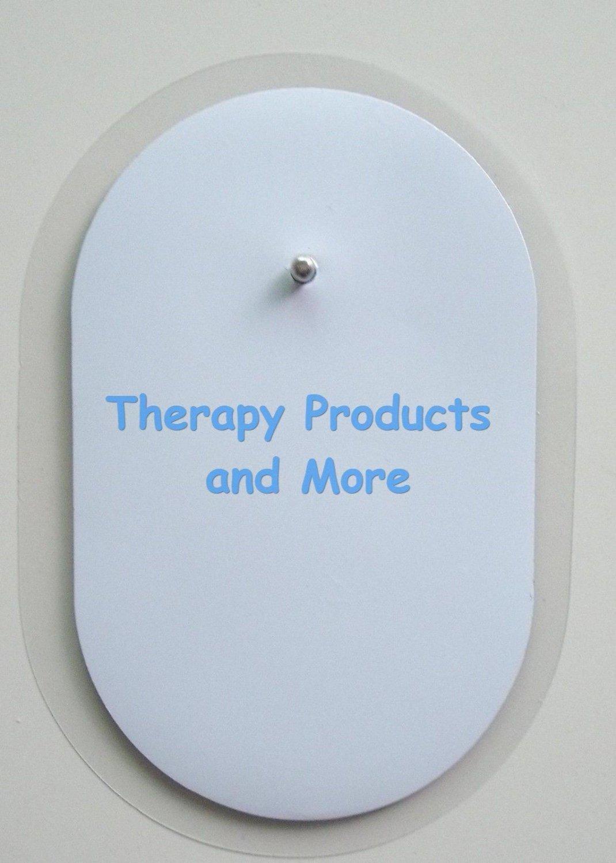 "6 Oval Electrodes Massage Pads 2 1/2""  X 1 1/2"" for Digital Massager Tens"