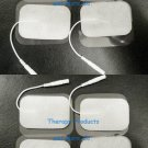 RECTANGULAR WIRED ELECTRODE MASSAGE PADS 4x6 cm (8) FOR TENS DIGITAL MASSAGER