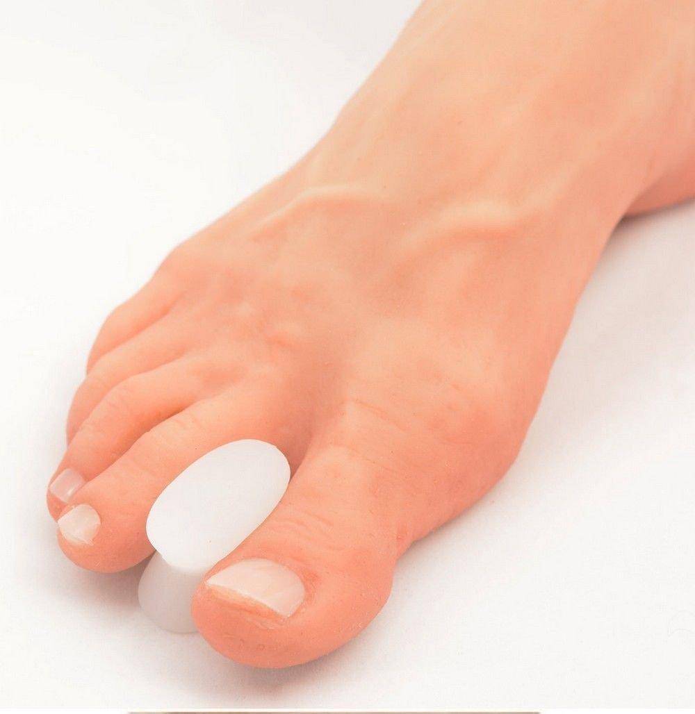 2 Pcs Silicone Gel Toe Separator Straightener Pain Relief Hallux Valgus