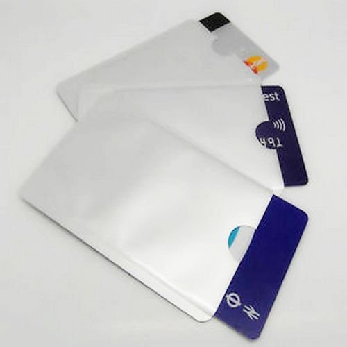 5 pcs RFID Blocking Credit Card Secure Sleeve Protector Shields for ID/Payment