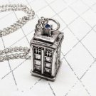 Dr Who Silver Replica Tartis 3D Phone Booth Replica Necklace New