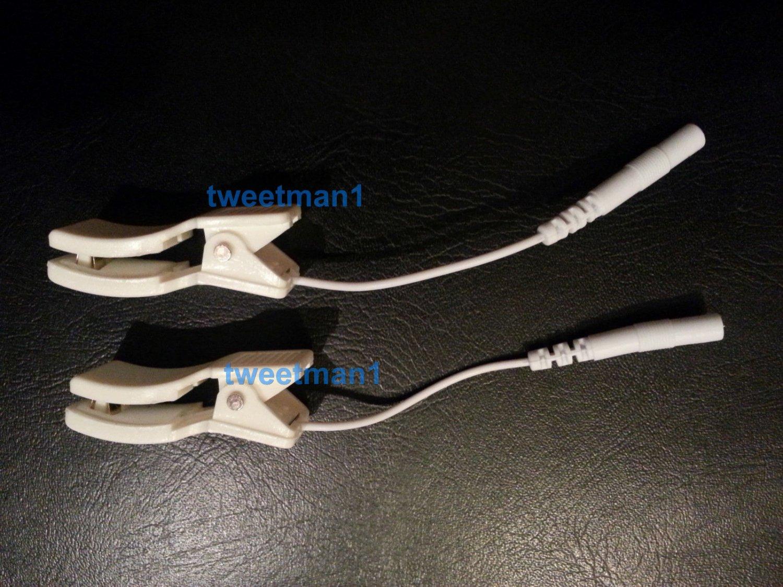 2 Clip Clamp Electrodes for TENS 3000 7000 Digital Massagers Earclips Erostek