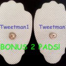 +PLUS BONUS!+~ELECTRODE MASSAGE PADS (10) LARGE FOR ALL IQ DIGITAL MASSAGERS