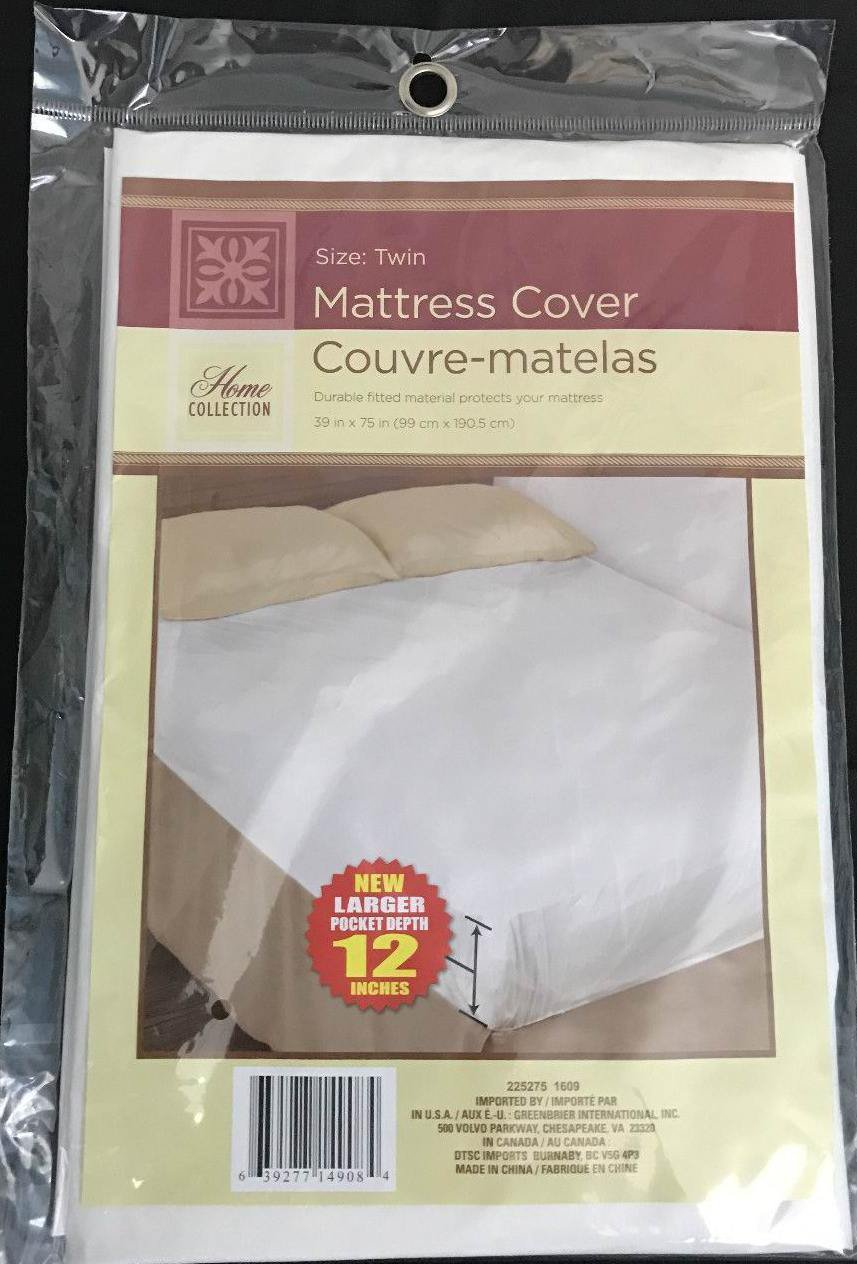 TWIN SIZE MATTRESS COVER Extra Soft Plastic Fitted Protector Waterproof