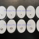 Small Massage Pads Thick Electrodes OVAL (10) for Digital Massager TENS Estim