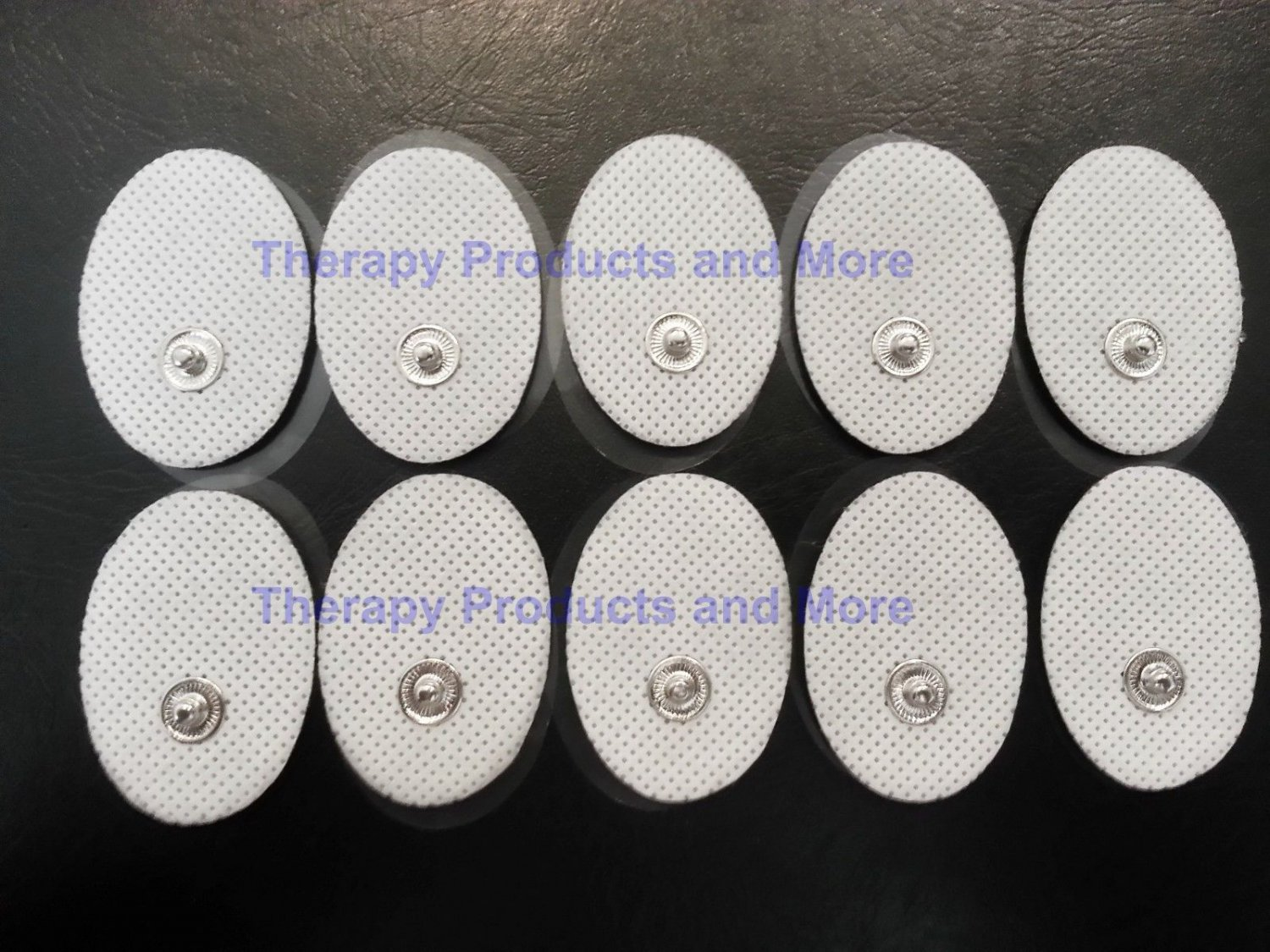 Small Snap-on Massage Pads (10) for Digital Massager Great Value with Sticky Gel