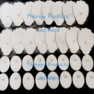 Tens Pads Electrodes (16 LG + 16 SM OVAL) w/ High Conductivity Self-Adhesive Gel