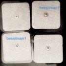 XL WIDE SQUARE SNAP ELECTRODE MASSAGE PADS (8) FOR DIGITAL MASSAGER, TENS, EMS
