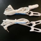 EAR CLIP/CLAMP ELECTRODES w/3.5mm Plug Set of 2 Lead Cables for Digital Massager