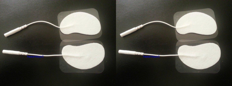 Ear Shaped Electrodes Massage Pads (8) for Digital Massager Machine TENS 2mm pin