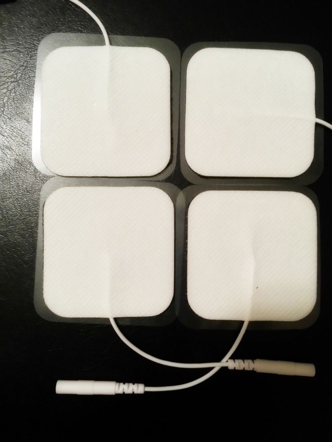 """SQUARE SHAPED GEL ELECTRODES(4)SELF ADHESIVE MASSAGE PADS 2""""X2"""" FOR THERAPY TENS"""