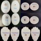MASSAGE PADS TENS ELECTRODES(4SM + 4 SM OVAL + 4 LG)TENS COMPATIBLE REUSABLE