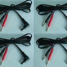 4 TENS Unit Lead Wires FOR INTENSITY 10 TENS 3000 7000 iReliev ET-7070 ET-1313