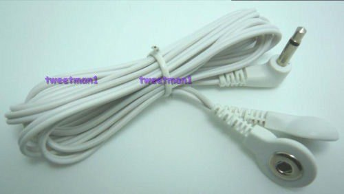 *+BONUS* Electrode Lead Wire/Cable Connector for 2 Snap Pads 3.5mm Plug TENS