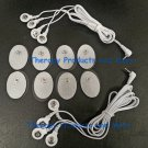2 ELECTRODE LEAD WIRE 4-WAY CABLES(2.5mm Plug) +8 PADS FOR DIGITAL MASSAGER TENS