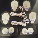 2 ELECTRODE CABLES (2.5mm) + 4 LG, 4 SM PADS FOR IREST OR TENS DIGITAL MASSAGER