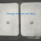 XL WIDE REPLACEMENT ELECTRODE MASSAGE PADS (8) (9X6CM)FOR HEALTH HERALD MASSAGER