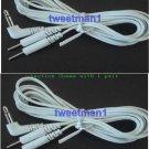 ELECTRODE LEAD WIRES 3.5mm PLUG PAIR COMPATIBLE W/EROSTEK ESTIM UNIT, TENS NMES