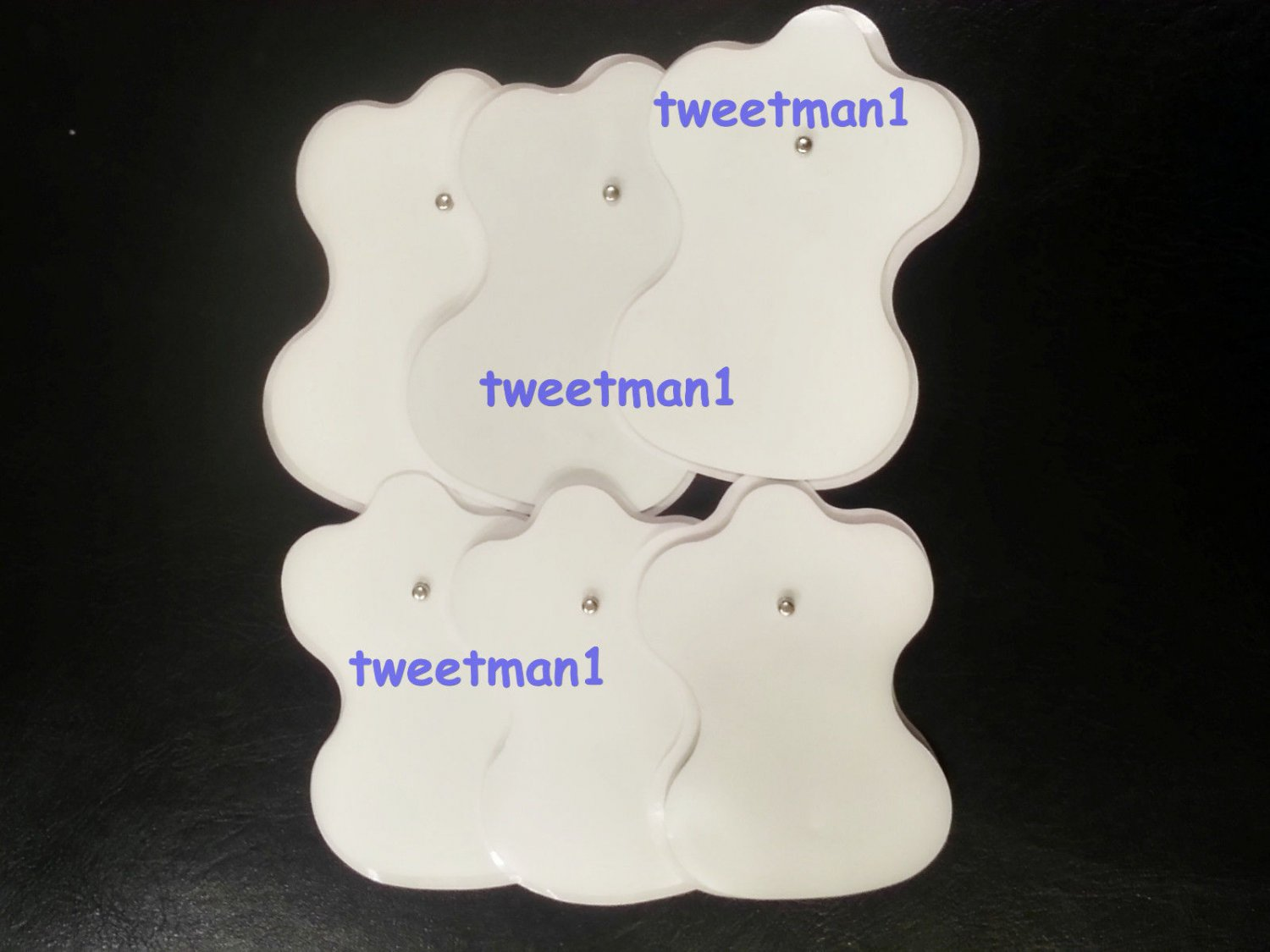 `Electrode Pads for Digital Massage (6) /TENS/Electronic Physiotherapy/Snap-on