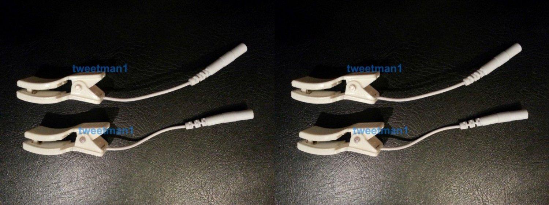 4 Clip Electrodes for TENS 3000 TENS 7000 Digital Massagers Erostek TENS IFC EMS