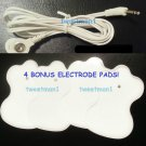 +BONUS PADS!+ ELECTRODE LEAD WIRE Cable 2.5mm for Digital Massager TENS Snap