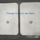 """XL WIDE ELECTRODE REPLACEMENT MASSAGE PADS (4) (3.5"""" X 2.3"""") FOR TENS IFC NMES"""