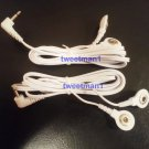 ELECTRODE LEAD CABLES CONNECTOR WIRES 2.5mm FOR DIGITAL TENS MASSAGER + 4 PADS