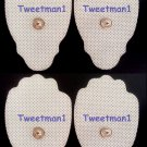 DIGITAL MASSAGER PADS (4) THERAPY MACHINE TENS MASSAGE PADS, LARGE/REUSABLE