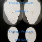 REPLACEMENT ELECTRODE PADS COMBO(2 LG, 2 SM OVAL) FOR Electrotherapy Estim TENS