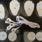 ELECTRODE LEAD CABLE (3.5mm) + 8 MASSAGE PADS FOR NMES, TENS, IFC REUSABLE PADS