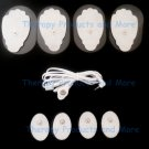 ELECTRODE LEAD CABLE(2.5mm) + PADS (4 LG + 4 SM OVAL)ELECTRIC MASSAGER TENS EMS