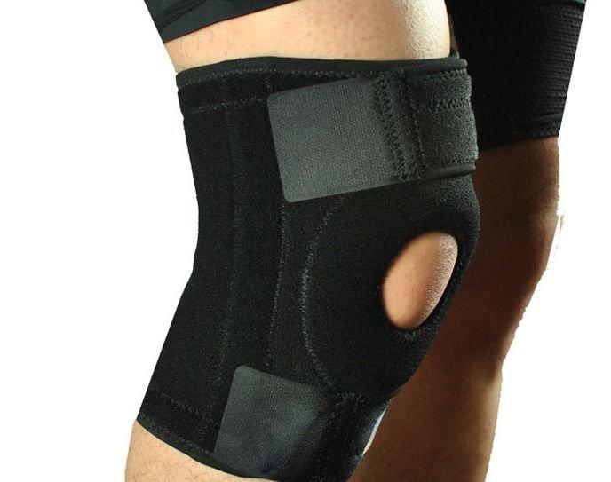 Adjustable Nylon Full Knee Patella Brace Stabilizer Support Sport Guard Black