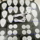 2 DUAL ELECTRODE CABLES (3.5mm) + (16Lg + 16Sm) ELECTRODES FOR SUNMAS MASSAGER