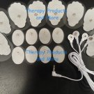 REPLACEMENT MASSAGE PADS (16) +3.5mm 4 WAY CABLE FOR DIGITAL MASSAGER
