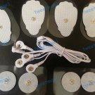 ELECTRODE LEAD CABLE (3.5mm) + 8 MASSAGE PADS compatible w / EROSTEK ESTIM UNIT