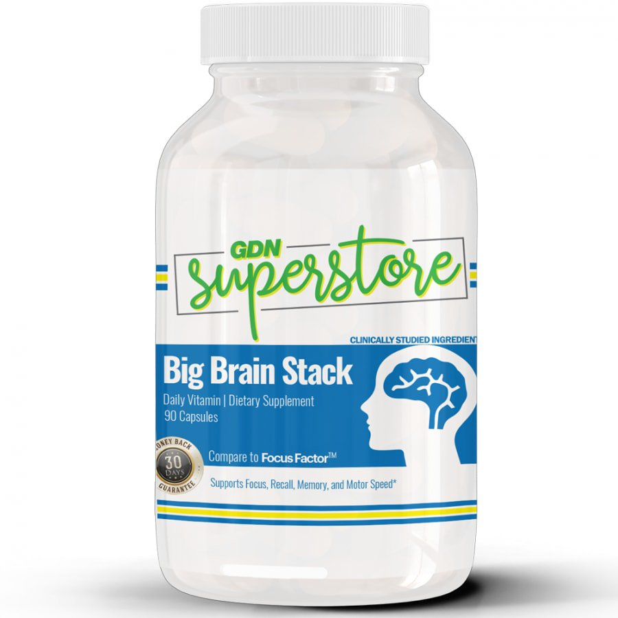 GDNsuperstore Big Brain Stack - Supports Memory, Attention, and Motor Skills