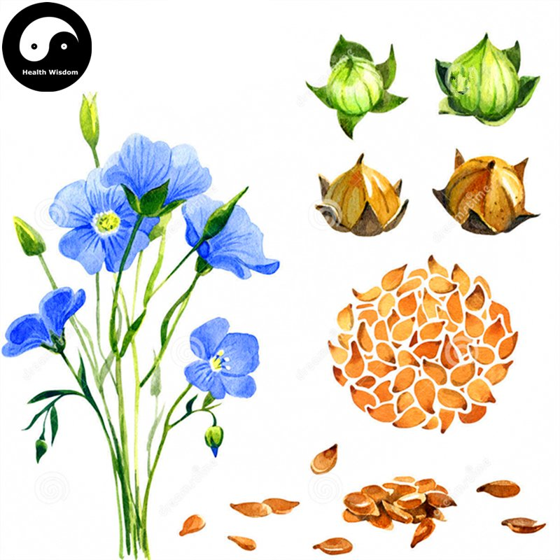 Buy Herb Flax Seeds 100pcs Plant Chinese Lium Usitatissimum Linseed For Ya Ma