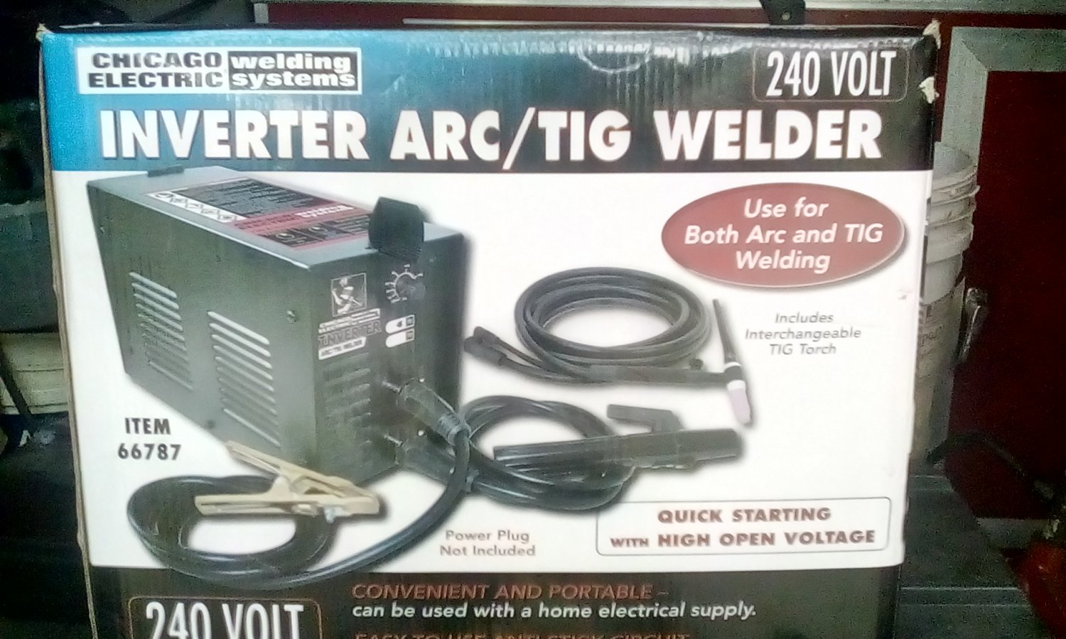 240 Volt Inverter Arc and TIG Welder with Turbo Fan Cooling by Chicago