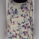 American Eagle Outfitters tiered babydoll shirt XL floral blouse top casual work