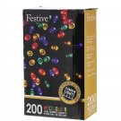 Christmas String Lights Top Quality Timer LED Multicolor 200 bulbs Home NEW