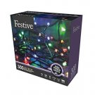 Christmas String Lights Battery Operated Timer LED Multicolor 300 bulbs Home NEW