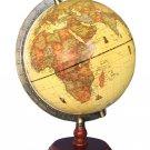 "Exerz Antique Globe (Large Dia 10"" / 25cm) With A Wood Base, Political Desktop W"