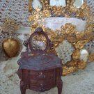ANTIQUE FRENCH VANITY TABLE JEWELRY BOX CASKET TRINKET BOX DOLLS **PRETTY**