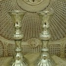 TWO ****HUGE**** MERCURY GLASS REPRODUCTION CANDLESTICKS