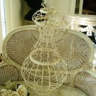 #2 SHABBY PAINTED METAL GARDEN TOPIARY FORM FRAME ***FABULOUS****