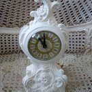 VINTAGE SHABBY FRENCH STYLE ORNATE ELECTRIC CLOCK ***SO PRETTY***
