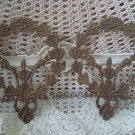 SET OF TWO VINTAGE FRENCH WREATH APPLIQUES FROM FRANCE ARCHITECTURAL SALVAGE