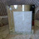 SHABBY VINTAGE ETCHED MIRROR PICTURE FRAME #1 ***GORGEOUS****