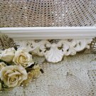 GORGEOUS SHABBY FRENCH ORNATE SHELL PAINTED WALL SHELF ***GORGEOUS***